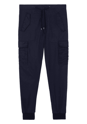 Burberry Cotton Tapered Cargo Trousers - Blue
