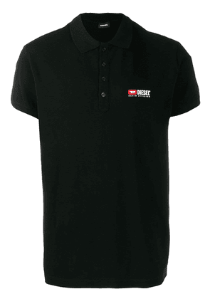 Diesel embroidered logo polo shirt - Black