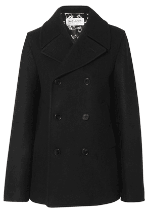 SAINT LAURENT - Double-breasted Wool Coat - Black