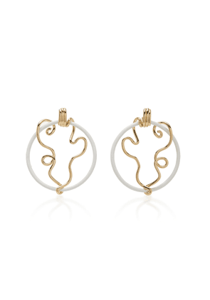 Bea Bongiasca Vine Wrapped Front Facing Hoops