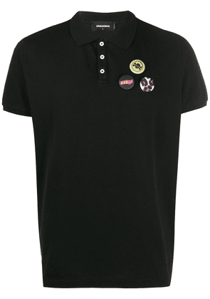 Dsquared2 badge polo T-shirt - Black