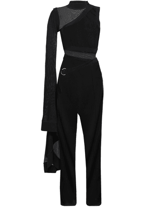 Balmain Stretch-knit Jumpsuit Woman Black Size 36