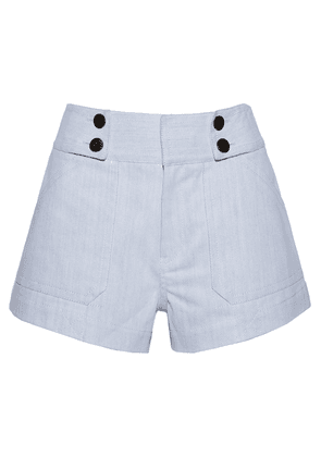 Derek Lam 10 Crosby Cotton-blend Twill Shorts Woman Light denim Size 0