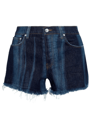 Derek Lam 10 Crosby Drew Faded Frayed Denim Shorts Woman Dark denim Size 24
