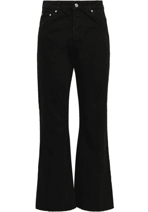 Anine Bing Frayed High-rise Kick-flare Jeans Woman Black Size 26