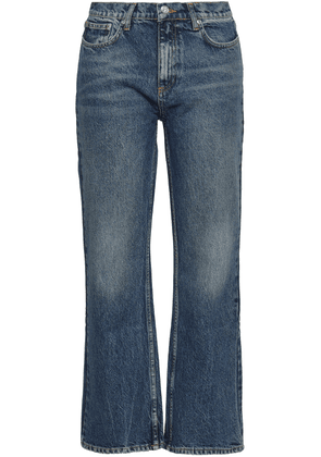 Anine Bing Faded High-rise Bootcut Jeans Woman Mid denim Size 24