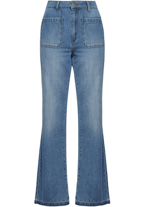 Anine Bing Faded High-rise Flared Jeans Woman Mid denim Size 24