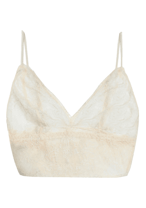 Anine Bing Corded Lace Soft-cup Triangle Bra Woman Ivory Size XS