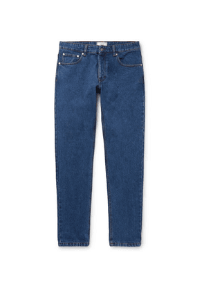 AMI - Slim-fit Washed Denim Jeans - Blue