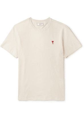 AMI - Logo-appliquéd Cotton-jersey T-shirt - White