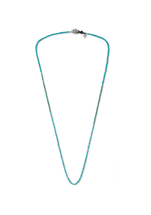 Peyote Bird - Turquoise And Sterling Silver Necklace - Blue