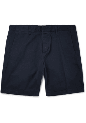 AMI - Slim-fit Cotton-twill Bermuda Shorts - Navy