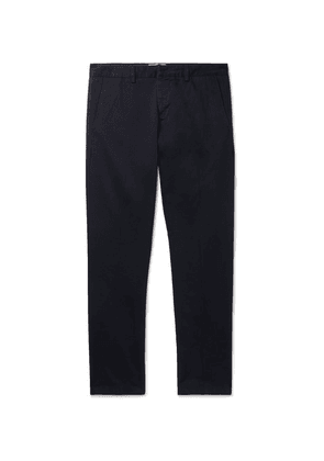 AMI - Navy Slim-fit Cotton-twill Chinos - Navy