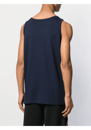 Champion logo embroidered tank top - Blue