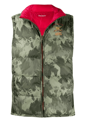 Hackett camouflage print gilet - Red