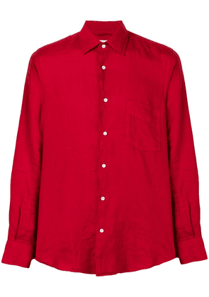 Aspesi slim-fit linen shirt - Red