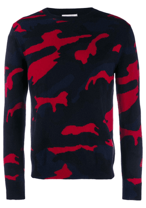 Valentino cashmere camouflage sweater - Blue