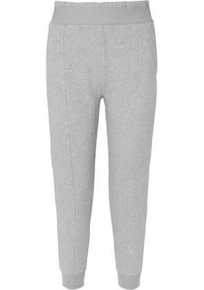 adidas by Stella McCartney - Essentials French Cotton-blend Terry Track Pants - Gray