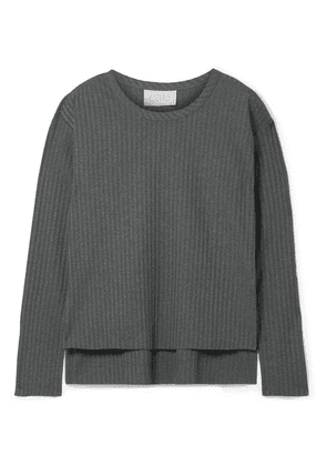 calé - Dominique Ribbed Stretch-jersey Top - Charcoal
