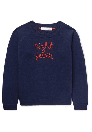 Lingua Franca Kids - Ages 2 - 6 Night Fever Embroidered Cashmere Sweater