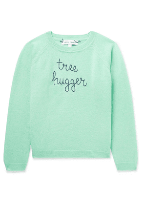 Lingua Franca Kids - Ages 2 - 6 Tree Hugger Embroidered Cashmere Sweater