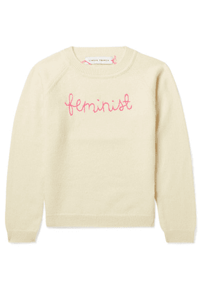 Lingua Franca Kids - Ages 2 - 6 Feminist Embroidered Cashmere Sweater