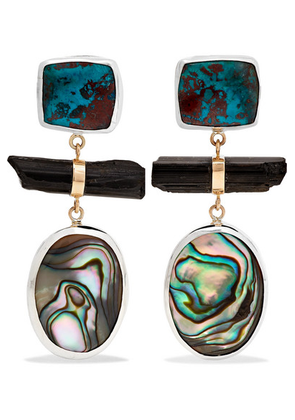 Melissa Joy Manning - Sterling Silver And 14-karat Gold Multi-stone Earrings - one size