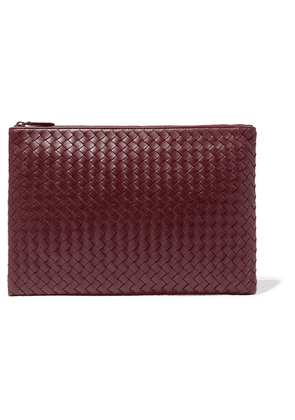 Bottega Veneta - Large Intrecciatio Leather Pouch - Burgundy