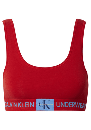 Calvin Klein Underwear - Stretch-cotton Jersey Soft-cup Bra - Red
