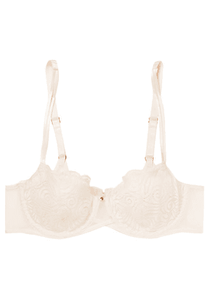 Chantelle - Pyramide Stretch-lace And Tulle Underwired Bra - Pastel pink