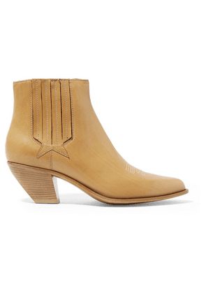 Golden Goose - Sunset Leather Ankle Boots - Light brown