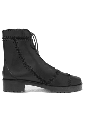 Alexandre Birman - Whipstitched Leather Ankle Boots - Black