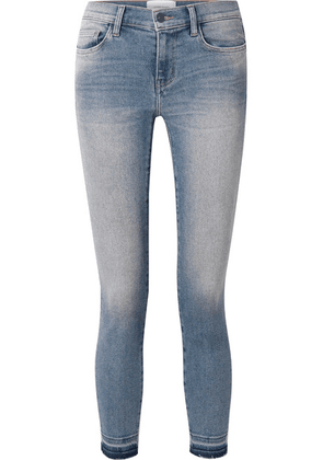 Current/Elliott - The Stiletto Cropped Distressed Mid-rise Skinny Jeans - Mid denim
