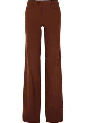 Chloé - Wool-blend Wide-leg Pants - Brown