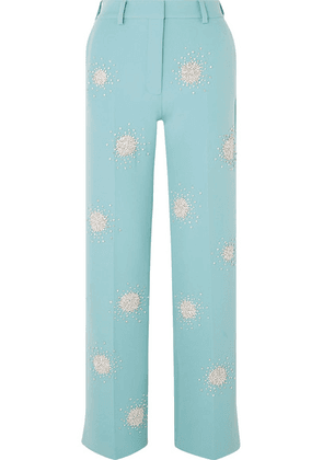 Stine Goya - Marcel Crystal-embellished Cady Straight-leg Pants - Light blue