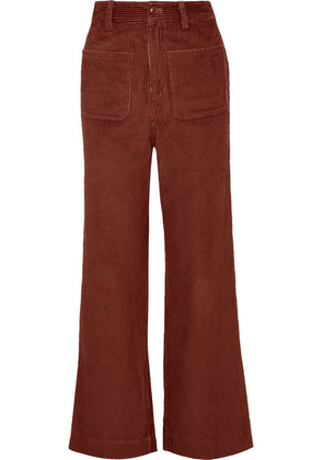 Ulla Johnson - Fonda Cotton-corduroy Straight-leg Pants - Brown
