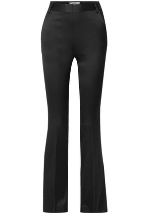 FRAME - Le Mini Boot Satin-crepe Slim-leg Pants - Black