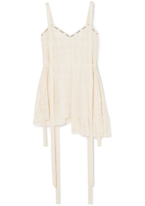 Loewe - Printed Cotton-blend Lace Top - Ivory