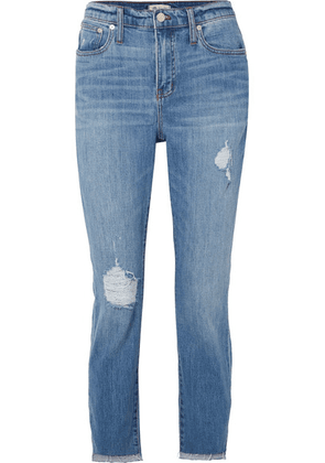 Madewell - The High-rise Slim Boyjean Distressed Jeans - Mid denim