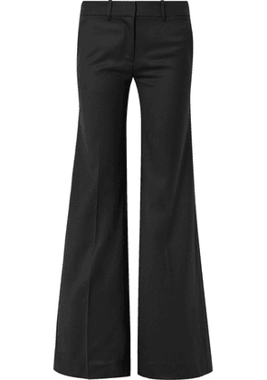 Nili Lotan - Irene Wool-twill Wide-leg Pants - Black