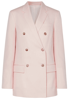 CALVIN KLEIN 205W39NYC - Double-breasted Wool-twill Blazer - Pastel pink