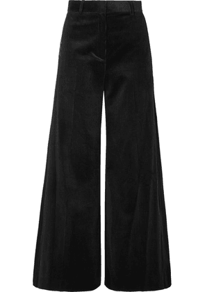 Bella Freud - Bianca Cotton-corduroy Wide-leg Pants - Black