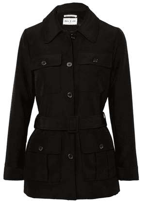 Paul & Joe - Arizona Belted Woven Jacket - Black