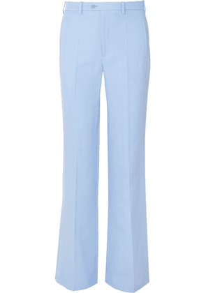 Joseph - Kosta Ramie And Cotton-blend Straight-leg Pants - Sky blue