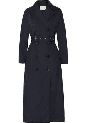 Mackintosh - Belted Shell Trench Coat - Navy