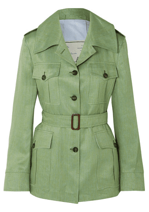 Giuliva Heritage Collection - The Sahariana Belted Linen Jacket - Green