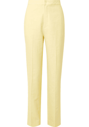 Tibi - Sebastian Twill Straight-leg Pants - Pastel yellow