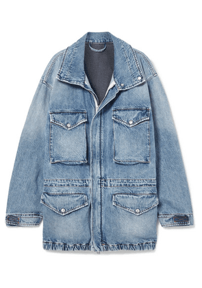 Unravel Project - Oversized Cutout Denim Jacket - Blue