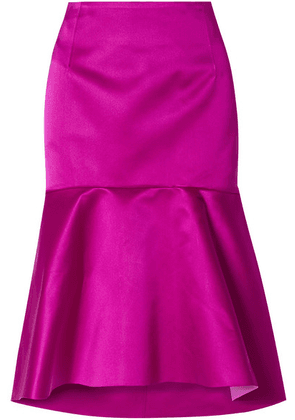 Balenciaga - Fluted Silk-satin Skirt - Fuchsia
