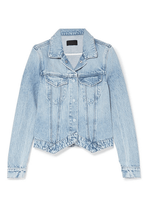 RtA - Jack Acid-wash Denim Jacket - Light blue